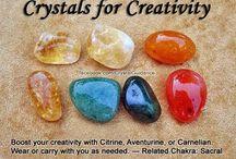 crystals and rocks