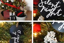 Christmas- Chalkboard Theme Red Black / Chalkboard is very popular for Christmas. Deck out your tree and christmas decorations using chalkboard ribbon and chalkboard ornaments. / by Southern Charm Wreaths