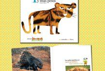 Colección: LOS ANIMALES POR FUERA / A través de un engranaje de preguntas y respuestas, cada título aborda y desarrolla un recubrimiento corporal determinado –pieles, escamas, caparazones, plumas, pelos-.  Una serie perfecta para los más pequeños, que estimula la curiosidad y la observación. A partir de 4 años.