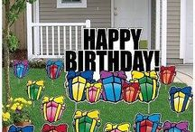 Yard Cards and Inflatables  / Do you know someone with an upcoming birthday and want to send them a special and fun message? Did you or someone you know just have a baby and want to tell the whole neighborhood about the arrival of the new bundle of joy? Do you have a Huge Sale, Grand Opening or Open House coming up and want to make sure your venue is noticeable from up to 4 blocks away?