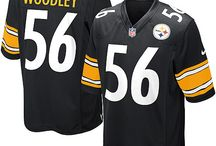Steelers Lamarr Woodley Black Authentic Jersey For Women's & Youth & Men's All Size