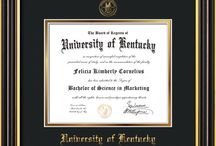 University of Kentucky - UKy - Diploma Frames & Graduation Gifts / Official UKy Diploma frames. Exquisitely crafted to exacting specifications for the UKy diploma. Custom framed using hardwood mouldings and all archival materials, including UV glass to prevent fading from sunlight AND indoor incandescent lighting! Each frame exceeds Library of Congress standards for document preservation and includes a 100% lifetime guarantee, ensuring that a hard-earned achievement will be honored and protected for generations. Makes a thoughtful and unique graduation gift!