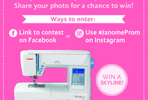 Janome Prom / Did you make your Prom Dress? Enter a photo of it now for a chance to win a Janome Skyline S5! www.janome.com/en/janome-prom