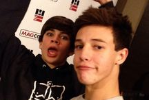 Hayes Grier and Cameron Dallas b