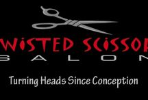 Twisted Scissors Salon / Turning heads since conception, Twisted Scissors is a full service salon that focuses on creating a look that compliments each individual client.   twistedscissors07.com