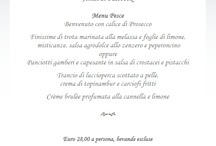 Special Menus - Special Events / A special menu for a very special event!  Ristorante Lo Stornello Stresa, the historical gourmet restaurant in Stresa on the shores of Lake Maggiore !
