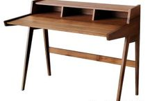 Retro Scandinavia Writing Desk by Jegoods Woodworking Studio