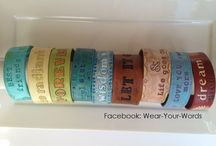 Leather Cuff Bracelets / WOTY (Word of the Year), Inspirational Sayings, Mantras - hand-designed, stamped and painted leather cuff bracelets. See FB Page: Wear-Your-Words