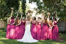 Bridesmaid Dresses / Check out our weddings with berry pink bridesmaids dresses and color themes. Perfect color scheme for a fall wedding.