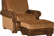 Mayo Leather and Leather/Fabric Chairs / Made in the USA