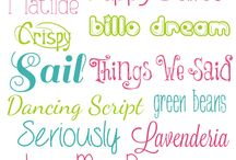 Fonts / Fonts / by Kelly Gentry