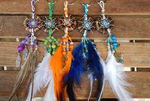 My Dreamcatchers / Dreamcatchers I create.  #hemp #dreamer #dreamcatcher #feathers #crafts