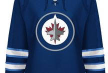 Winnipeg Jets - Official NHL Hockey Jerseys / We are the leading manufacturer of professional sports lettering & numbering and we have been selling officially licensed NHL jerseys and apparel via the internet since 1999. Visit: CoolHockey.com for more!