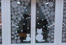 Karácsonyi ablakdísz papírból