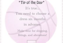 Wedding Advice & Tips / Take notes...