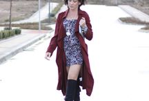 Burgundy Hug /  #ChicStyle #Fashion #Burgundy #trench #MaxiTrench #BurgundyTrench #StreetStyle #Necklace #OverTheKneeBoots #Flare #LaceDress http://gabbynnia.com