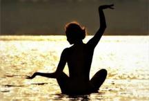 Yoga silluette