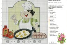 Вышивка: Кулинарный техникум (Сross stitch: culinary college, kitchener)