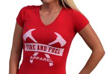 Women's Fitness Wear / Transform yourself & your life! Get fit & healthy! Fire and Fuel Apparel has the firefighter fitness wear you need. Bold attitude. Powerful graphics.