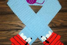 Crochet hats, scarfs, mittens & socks