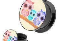 Picture Ohr Plugs / Ausgefallene Ohr Plugs mit außergewöhnlichen Designs