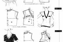 Mönster-toppar/blusar / mönster till överdelar / by Ingalill Martinsson
