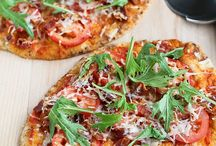 Pizza and bread