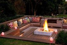 Piscina + FirePlace + Pool + Deck / Piscina Vestuarios / Cambiadores Deck / Reposeras FirePlace