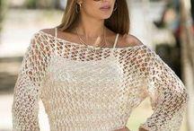 blusa tricô linha verão