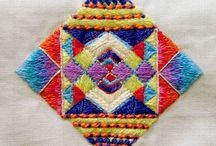 embroidery - squares / Sticken - Ecken / by Faden.Design. Christine Ober