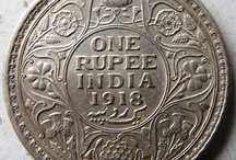 Coin. India and banknod