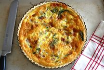 Savory / Savoury recipes. Quiche recipes and stuffed pepper recipes included.