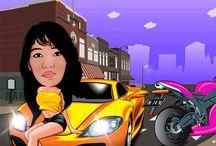 Places to Visit / karikatur caricature cartoon dadandaihh dadan nugraha , vector