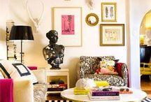 Black Gold White Pink Room