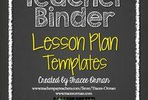 Lesson Plans - Templates