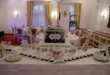 candy bar SNOW theme / wedding with white decorations. white candies and sweets.