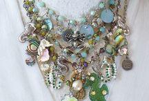 Antique type collar necklaces