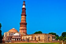 A Page From The Past- Qutub Minar / The Minar built of red sandstone, lime mortar and rubble masonry is the tallest brick minaret in the world. The Minaret was built on the ruins of the demolished Hindu and Jain temple, which were built by the last of the Hindu rulers of Delhi, India . The reason behind the construction are many, but the most common and acceptable reason was to celebrate the advent of Muslim dominance in Delhi