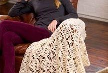 light crochet  throw