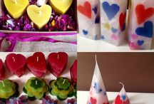 Velas para San Valentín / Velas corazón