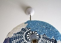 Lampe en dentelle