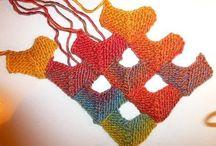 strikkede sjaler