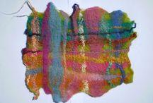 Felting (Vilten) fiber art
