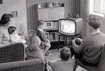 watching tv family