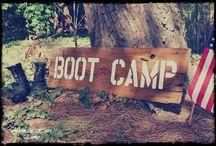 ELIHAH 8TH BIRTHDAY BOOT CAMP , CAMO / by Becky Lynn Garlic