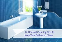 Bathroom cleaning tips / Keep your bathroom clean and sparkly with these tips.