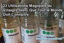 Vinaigre, bicarbonate, Marc de cafe