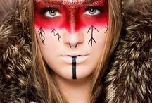 Tribal Makeup / Tribal makeup inspiration for study. Maquillage d'inspiration tribal pour étude.