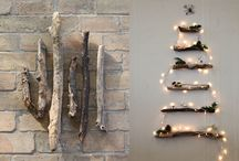 Twig Yule trees, hanging or 'potted' / Things to make with twigs, and random Yule goddess pics