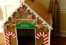 piernikowy domek z kartonu